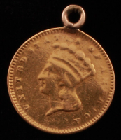 1856 $1 One Dollar Gold Coin (Atlered) at PristineAuction.com