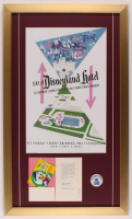 Disneyland Hotel 17x28.5 Custom Framed Print Display with Vintage Employee Pin at PristineAuction.com