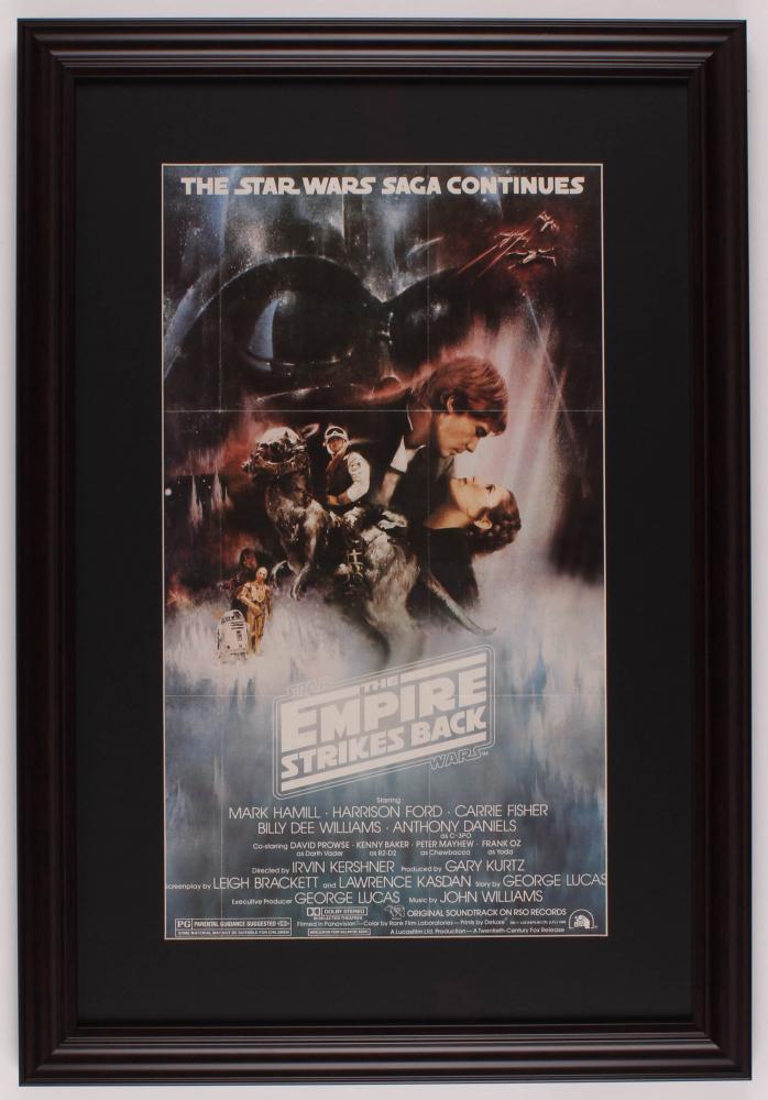 """Star Wars: Episode V -  The Empire Strikes Back"" 17.5x25.5 Custom Framed Movie Poster Display at PristineAuction.com"