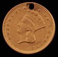 Vintage $1 Type III Gold Love Token at PristineAuction.com