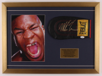 Mike Tyson Signed 17.5x24 Custom Framed Sparring Glove Display (JSA COA) at PristineAuction.com