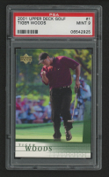 2001 Upper Deck #1 Tiger Woods RC (PSA 9) at PristineAuction.com