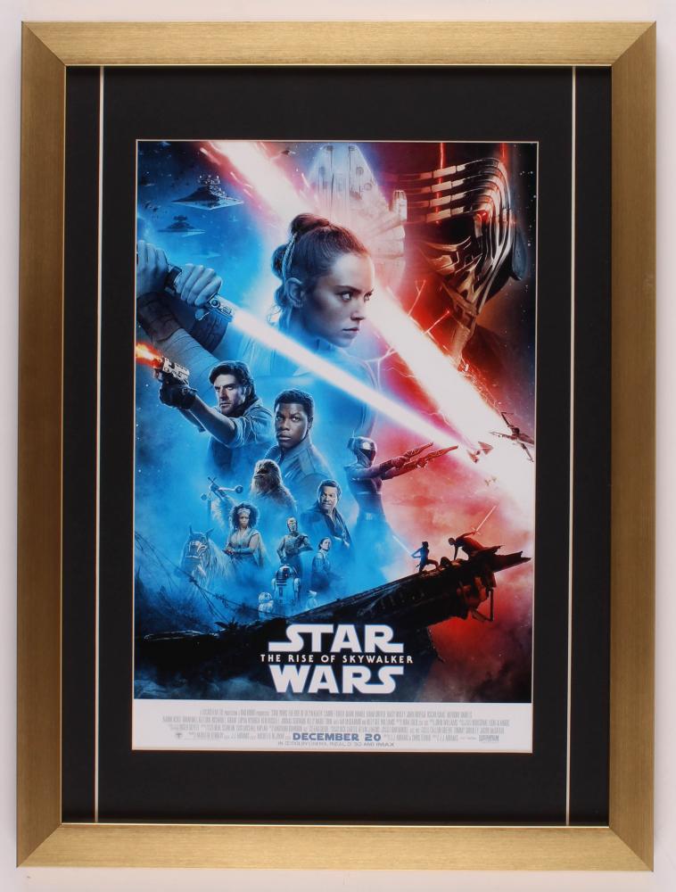 Star Wars The Rise Of Skywalker 16 5x22 Custom Framed Movie Poster Print Display Pristine Auction