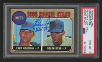 "Nolan Ryan Signed 1968 Topps #177 Rookie Stars RC Inscribed ""H.O.F. '99"" (PSA Encapsulated) at PristineAuction.com"