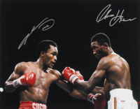 Thomas Hearns & Sugar Ray Leonard Signed 16x20 Photo (PSA COA) at PristineAuction.com