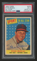 Stan Musial Signed 1958 Topps #476 All-Star (PSA 5) at PristineAuction.com