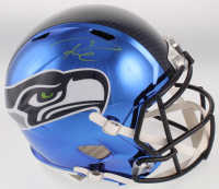 Russell Wilson Signed Seattle Seahawks Full-Size Chrome Speed Helmet (Wilson COA) at PristineAuction.com