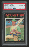 "Reggie Jackson Signed 1971 Topps #20 Inscribed ""HOF 93"" (PSA Encapsulated) at PristineAuction.com"