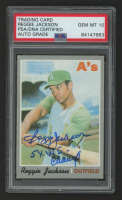 "Reggie Jackson Signed 1970 Topps #140 Inscribed ""5x W.S. Champ"" (PSA Encapsulated) at PristineAuction.com"