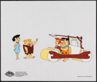 """The Flinstones """"Fred's New Car"""" 10.5x12.5 Animation Serigraph Cel at PristineAuction.com"""
