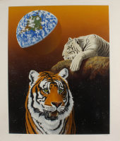 """William Schimmel Signed """"Our Home Too III (Tigers)"""" Limited Edition 28x34 Serigraph (JSA ALOA) at PristineAuction.com"""