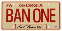 "Burt Reynolds Signed ""Smokey and the Bandit"" Georgia License Plate (PSA COA) at PristineAuction.com"