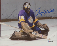 Rogatien Vachon Signed Los Angeles Kings 8x10 Photo (Beckett COA) at PristineAuction.com