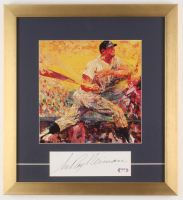 """LeRoy Neiman Signed """"Mickey Mantle"""" 16x17.5 Custom Framed Cut Display (PSA COA) at PristineAuction.com"""