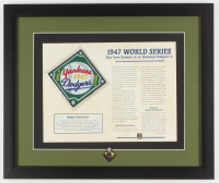 1947 World Series 16x19 Custom Framed Highlight Stat Card with Pin at PristineAuction.com
