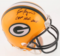 "Brett Favre Signed Green Bay Packers Mini-Helmet Inscribed ""GBP HOF 2015"" (Radtke COA) at PristineAuction.com"