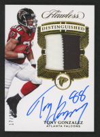 2017 Panini Flawless Distinguished Patch Autographs #1 Tony Gonzalez at PristineAuction.com