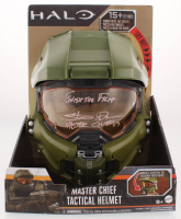 """Steve Downes Signed """"Halo"""" Master Chief Full-Size Helmet Inscribed """"Finish the Fight"""" & """"Master Chief 117"""" (Radtke COA) at PristineAuction.com"""