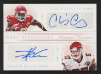 2015 Panini National Treasures Dual Signatures Holo Silver #2 Chris Conley / Travis Kelce at PristineAuction.com