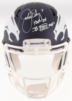 "John Elway Signed Denver Broncos Full-Size Authentic On-Field AMP Alternate Speed Helmet Inscribed ""HOF 04"" & ""SB XXXIII MVP"" (Beckett COA) at PristineAuction.com"