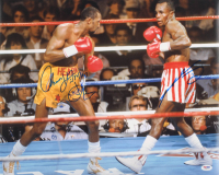 "Thomas ""Hitman"" Hearns & Sugar Ray Leonard Signed 16x20 Photo (PSA COA) at PristineAuction.com"