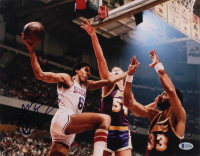 Julius Erving Signed Philadelphia 76ers 11x14 Photo (Beckett COA) at PristineAuction.com