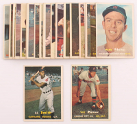 Lot of (26) 1957 Topps Baseball Cards with #145 Al Smith, #167 Vic Power at PristineAuction.com