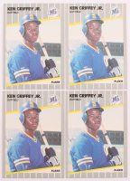 Lot of (4) 1989 Fleer #548 Ken Griffey Jr. RC Baseball Cards at PristineAuction.com