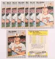 Lot of (10) 1989 Fleer #616E Bill Ripken DP / Black box covering / bat knob Baseball Cards at PristineAuction.com