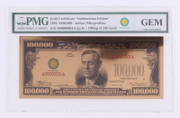"""1934 $100,000 One Hundred Thousand Dollar """"Smithsonian Edition"""" Gold Certificate (PMG GEM Uncirculated) at PristineAuction.com"""