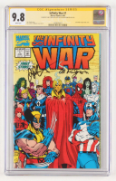 "Jim Starlin & Al Milgrom Signed 1992 ""The Infinity War"" Issue #1 Marvel Comic Book (CGC Encapsulated) (9.8) at PristineAuction.com"