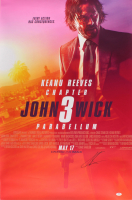"Keanu Reeves Signed ""John Wick: Chapter 3 – Parabellum"" 24x36 Poster (PSA COA) at PristineAuction.com"