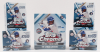 Lot of (5) 2019 Topps Chrome Baseball Boxes with (1) 50 Card Mega Box & (4) 32 Card Value Boxes at PristineAuction.com