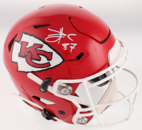 Travis Kelce Signed Kansas City Chiefs Full-Size Authentic On-Field SpeedFlex Helmet (Beckett COA) at PristineAuction.com