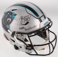 "Luke Kuechly Signed Carolina Panthers Full-Size Authentic On-Field SpeedFlex Helmet Inscribed ""Keep Pounding!"" (JSA COA) at PristineAuction.com"