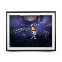 LeBron James Signed Lakers 30x40 Custom Framed LE Photo (UDA COA) at PristineAuction.com