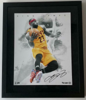 "LeBron James Signed Los Angeles Lakers ""Blow By"" 16x20 Custom Framed LE Photo (UDA COA) at PristineAuction.com"