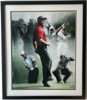 Tiger Woods Signed 20x24 Custom Framed LE Photo (UDA COA) at PristineAuction.com