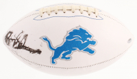 Barry Sanders Signed Detroit Lions Logo Football (Schwartz COA) at PristineAuction.com