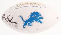Barry Sanders Signed Detroit Lions Logo Football (Schwartz COA) at PristineAuction.com