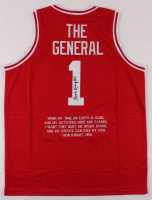 Bobby Knight Signed Career Highlight Stat Jersey (JSA COA) at PristineAuction.com
