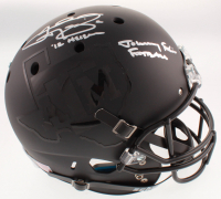 """Johnny Manziel Signed Texas A&M Aggies Matte Black Full-Size Helmet Inscribed """"12 Heisman"""" & """"Johnny F***in' Football"""" (Beckett COA) at PristineAuction.com"""
