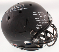 "Johnny Manziel Signed Texas A&M Aggies Matte Black Full-Size Helmet Inscribed ""12 Heisman"" & ""Alabama Story"" Inscription (Beckett COA) at PristineAuction.com"