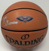 Zion Williamson Signed Pelicans Logo Basketball (Fanatics Hologram) at PristineAuction.com