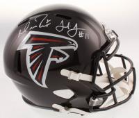 Matt Ryan & Julio Jones Signed Falcons Full-Size Speed Helmet (JSA COA & Fanatics Hologram) at PristineAuction.com