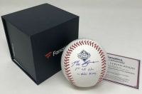"Max Scherzer Signed 2019 World Series Logo Baseball Inscribed ""1st WS Win in Nats History"" (Fanatics Hologram) at PristineAuction.com"