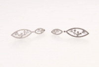Sterling Silver Cubic Zirconia Drop Earrings at PristineAuction.com