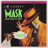 "Jim Carrey Signed ""The Mask"" Vinyl Record Album Cover (PSA COA) at PristineAuction.com"
