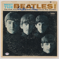 "Paul McCartney Signed The Beatles ""Meet the Beatles!"" Vinyl Record Album Cover (PSA LOA) at PristineAuction.com"