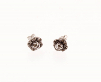Marcasite Rose Stud Earrings at PristineAuction.com